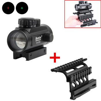 Red Green Dot Sight Scope Hunting Airsoft Collimator with AK 74 Rail Side Mount Quick QD Style 20mm Detach Rail Lock Scope Mount tactical qd quick detach side rail scope picatinny mount base red green dot sight mount for hunting ak47 ak74 rifle accessory