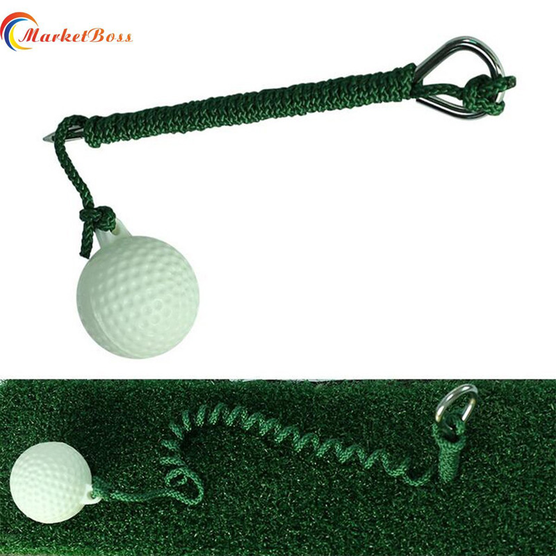 Fast Shipping Outdoor Golf Driving Ball Swing Hit Practice Training Aid Retractable Golf With Rope ...