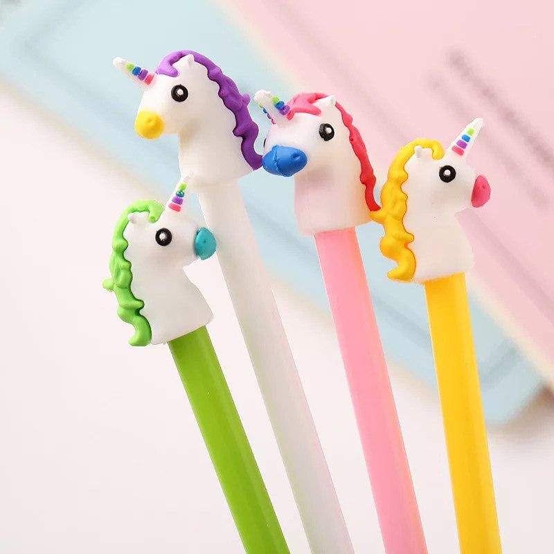 20 Teile/los Bringen Glück Einhorn Mini Sucker Cup Lustige Kreative Spielzeug Kinder Bleistift Topper Decor Modell Geschenke