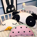 Cute Baby Crib Pillow Duck Bear Watermelon Children's Bedroom Toys Kids  Cushion Semicircle Lumbar Pillow Washable Birthday Gift