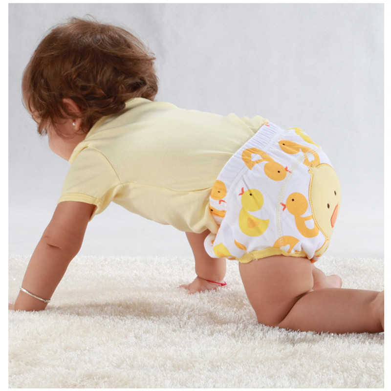 Quality Washable Baby Pee Training Nappies Shorts Boy Underwears Girl Briefs Toilet Learning Diapers Panties 3 Layers 2pcs/lot