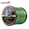 ANGRYFISH оптовая продажа 1000 метров 8x плетеная леска 8 цветов супер PE леска