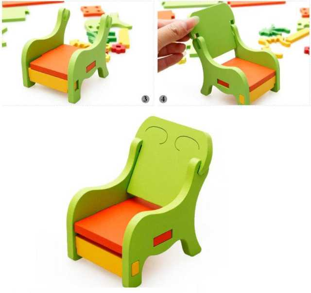 Sensational Us 15 13 15 Off 3D Wooden Puzzles Kids Diy Assemble Furniture Toys Kindergarden Chair Dresser Girls Boys Birthday Ts Educational Toys In Caraccident5 Cool Chair Designs And Ideas Caraccident5Info
