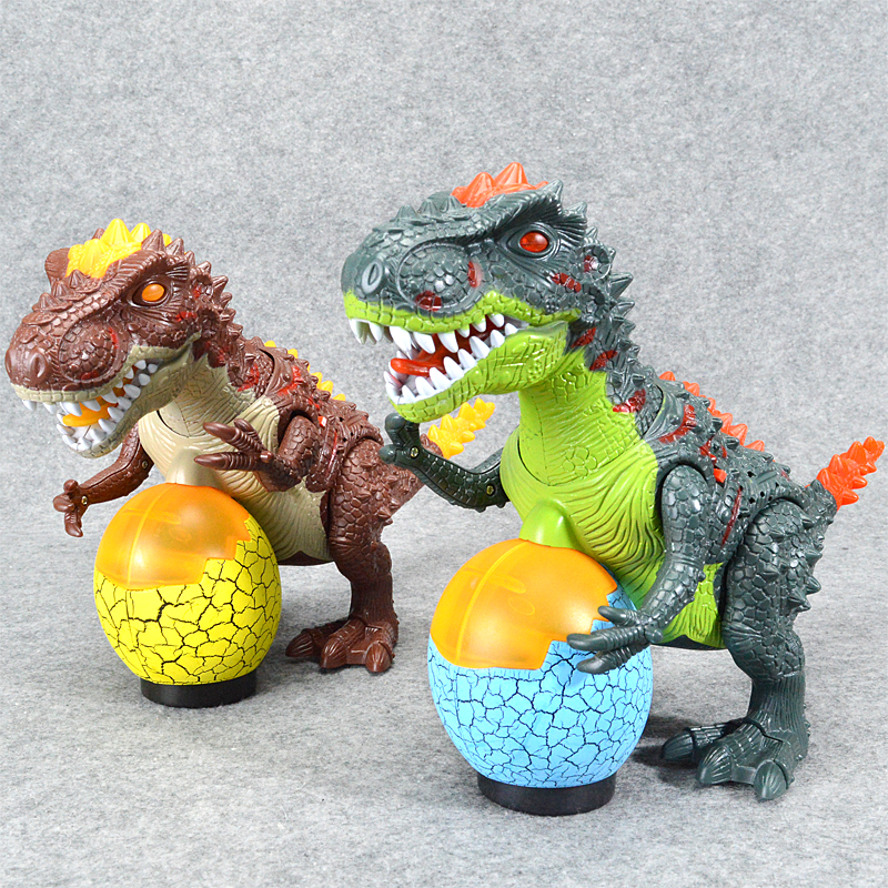 Realistic Dinosaur World Flashing Plastic Tyrannosaurs Toy Gorgeous Gift Electronic Dinosaur Toys For Children Kids Gifts