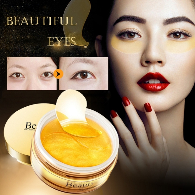 30 Pairs Collagen Gold Eye Mask Spot Patch Dark Circles Moisturizing Whitening Ageless Sleeping
