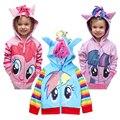 Mi Pony Ropa de La Muchacha de la historieta Niños de la capa Hoodies Niñas chaqueta de Los Niños sudadera Para Niños de algodón prendas de Vestir Exteriores 2 4 6 8 10 12 Año