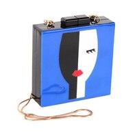 Designer Abendtaschen Einzigartige Handtasche Frauen Umhängetaschen Mode Dame Gesicht Kupplung Tasche Totes Handtasche
