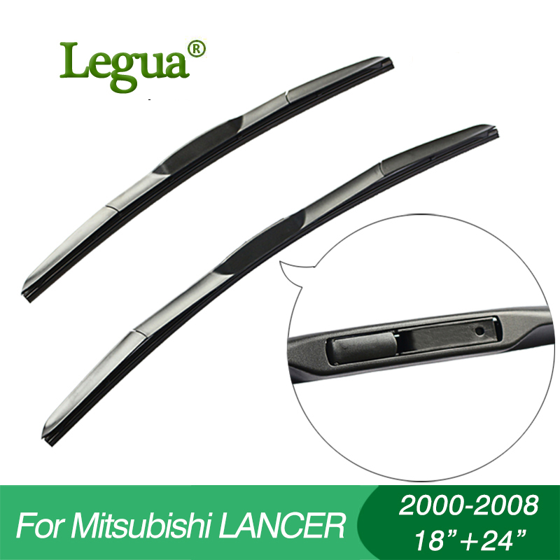 Legua Wiper blades for Mitsubishi LANCER(2000-2008), 18+24,car wiper,3 Section Rubber, windscreen wiper, Car accessory wiper blades for bmw 3 series f90 f91 24