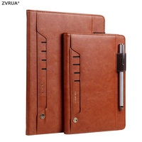 Genuine Leather Case for Apple iPad Pro 10.5 inch 2017 New, Luxury Brand Smart Cover / Card Slots / Pencil Holder Sleeve Flip