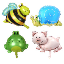 10Pcs / Lot Animal Mini Balloon Bee Butterfly Childrens Day Child Cute Toy Wedding Birthday Party Decoration