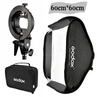 Godox 60 X 60cm Flash Softbox Kit With S Type Bracket Bowen Mount Holder For Camera