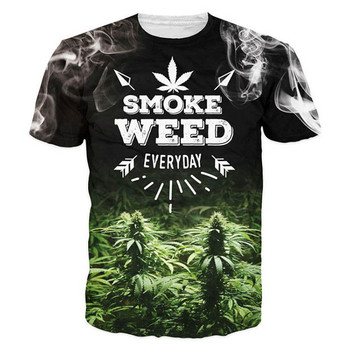 Green Leaves  All Over Print T-shirt