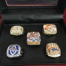 Фотография BIFAJAJA Drop Shipping 5pcs /set 1987 1997 1998 2013  2015 Denver Broncos champion Ring championship rings Statement Men