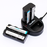 2 Pcs X DuraPro Replacement Battery NP F550 NP F570 Batteries Dual Charger For Sony CCD