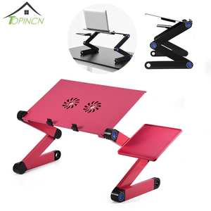 TOPINCN Adjustable Foldable Laptop Desk Table Stand Tray
