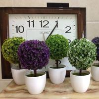 Arbre artificiel blanc vase mini couleurs bonasi décoratif maison Bureau de noël faux arbre Décoratif fleurs pots planteurs