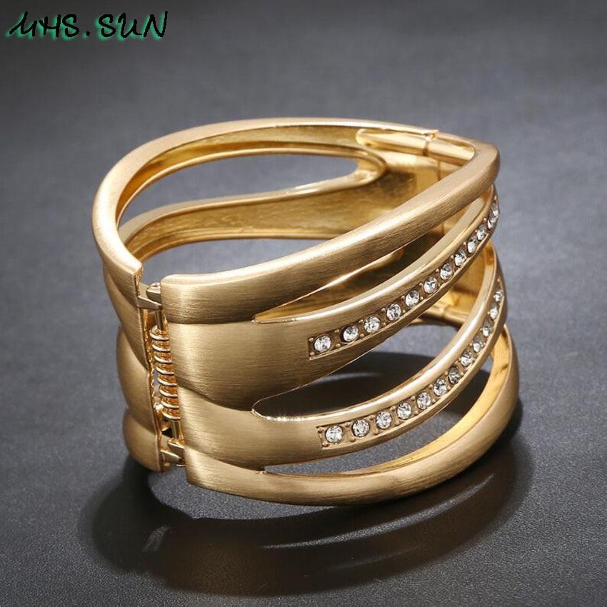 8-4Punk Hollow Ladies Women Bangle Bracelets Fashion Exaggerated Girls Bangles Bracelets European Female Jewelry For Gift