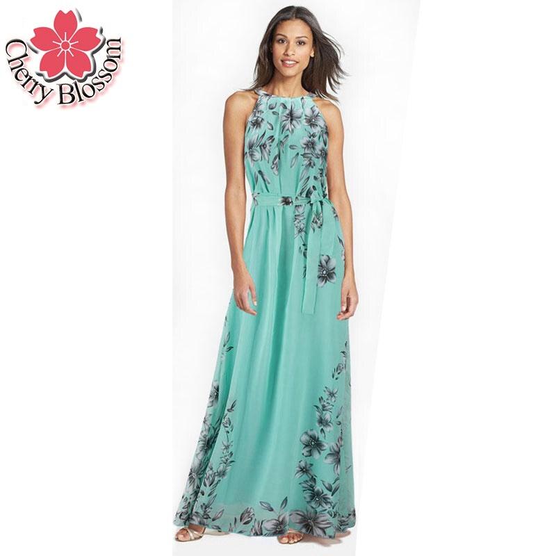Buy Cheap Women Plus Size Dress Summer Fashion Bahemian Beach Chiffon Print Dress Sexy Sleeveless Off The Shouder Wasit Maxi Dresses 6XL