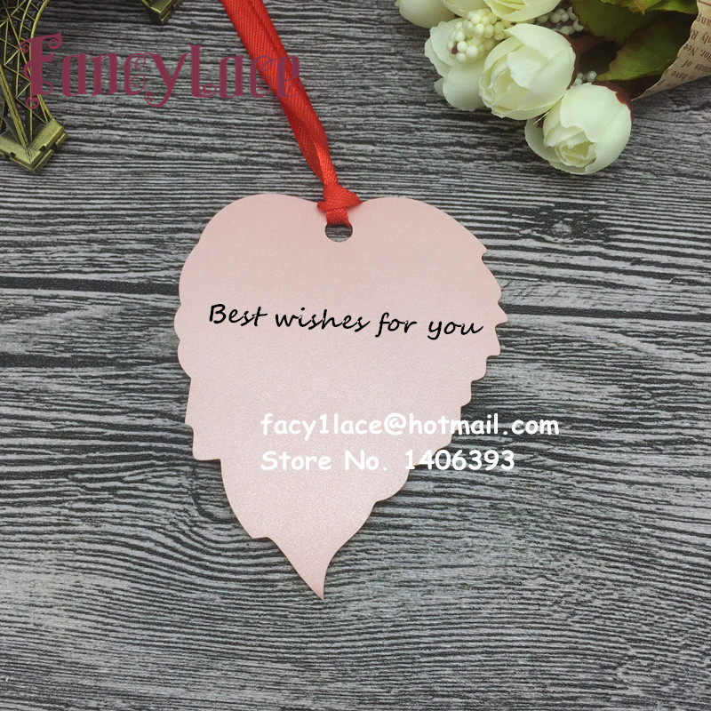 60PCS Blank leaves wish tree card/Thank you card Paper Card Table Mark Hang Tag Card Wedding Favors Party Decoration Book Mark