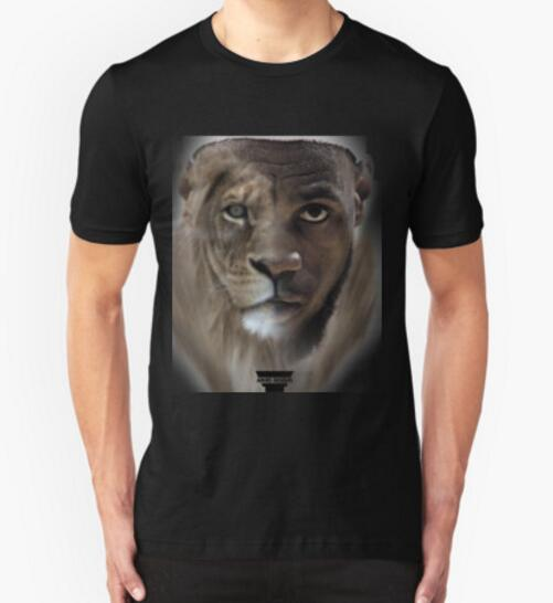 e18bfdf8 Free shipping sprot man t shirt Cartoon LeBron James 'Lion' Design t shirt  jersey s loose best men-in T-Shirts from Men's Clothing & Accessories on ...