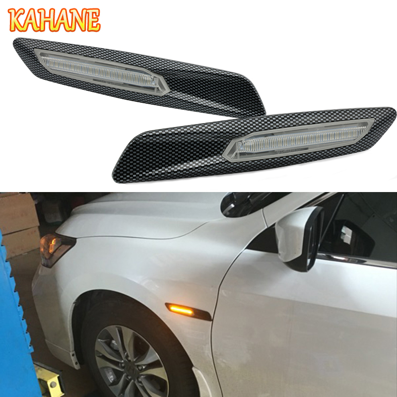 KAHANE 2x LED Car Fender Side Marker Turn Signal Light Sticker FOR BMW F30 E90 E91 E92 E93 E46 M3 E60 E61 M5 E81 E82 E87 E88