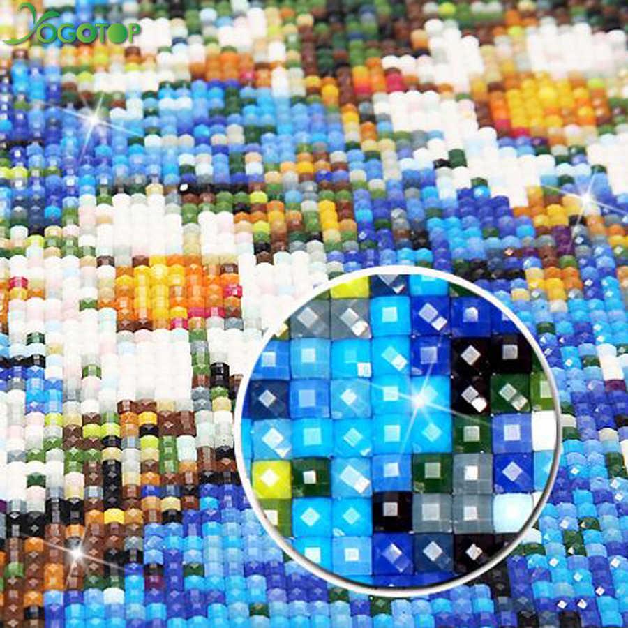 Yogotop Diy Алмазная вышивка крестиком на рисунке, Наборы 5D Бриллиантовая вышивка рождения крупного рогатого скота домашний декор квадратный мозаичные картины CV491