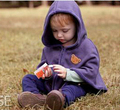 2015 moda casacos meninos do urso da menina blusas casacos de lã casaco de roupas de crianças Poncho capa