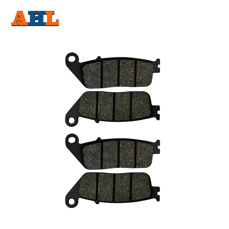 AHL 2 Pairs Motorcycle Front Brake Pads for HONDA CB400 CB 400 SF Superfour 1992-1995 Black Brake Disc Pad motorcycle parts front brake pads discs kit for honda cb400sf cb400 cb 400 sf superfour 92 95 cbr250 mc22 90 94 vfr750 88 97