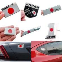 Metal bandeira japonesa emblema emblema japão adesivo do carro decalques acessórios para toyota honda nissan mazda lexus mitsubishi estilo do carro