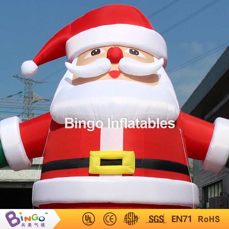 aliexpresscom buy 6m20ft christmas decoration inflatable santa claus with led lighting giant inflatable santa claus from reliable inflatable suppliers