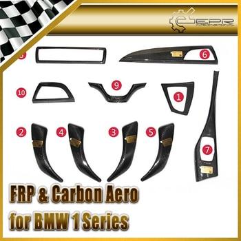 Car-styling Carbon Fiber Interior Sets 10pcs (FIT F20) LHD Fit For BMW 1 Series 11-14