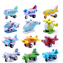 12pcs/set 3D Colorful Wooden Aircraft Model Mini Plane Wooden Toy Children's Gift Exquisite Collection