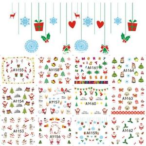 Image 4 - 12PCS Botas Sinos Cervos Do Boneco de Neve Árvore de Natal Deslizante de Transferência da Água Nail Art Adesivo Decalque Manicure Ferramenta Dicas Wraps JIA1129 1176