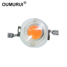 100pcs 3W high power led Lamp  plant grow light Bulb full spectrum 400-840nm 45MIL Chip 3.2-3.4 700mA180-200LM Free shipping