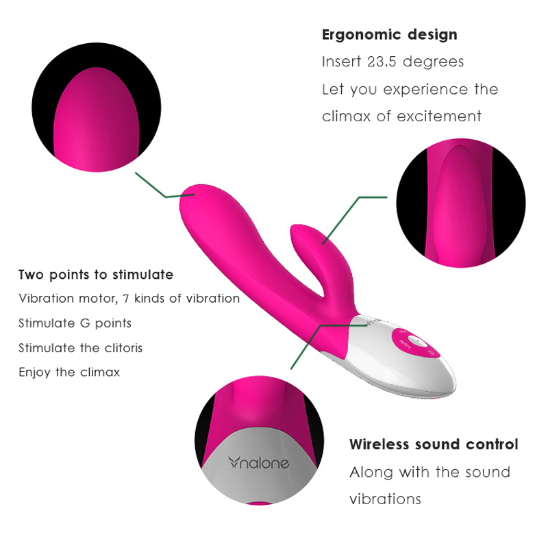 Nalone Rhythm Music 7 Speeds Barbed G Spot Vibrator, Waterproof vaginal oral clit Vibrator, Intimate Adult Sex Toys For Women 5