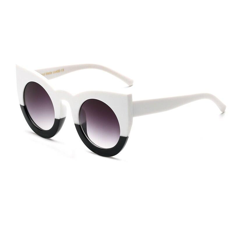 2017 White Black Sunglasses Women Party Holiday Fashion Oversized Glasses Sun Glasses For Women Designer Sunglasses