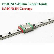 Mr12 12 мм линейная направляющая mgn12 длиной 450 мм с мини mgn9h линейный блок linear motion guide way for cnc