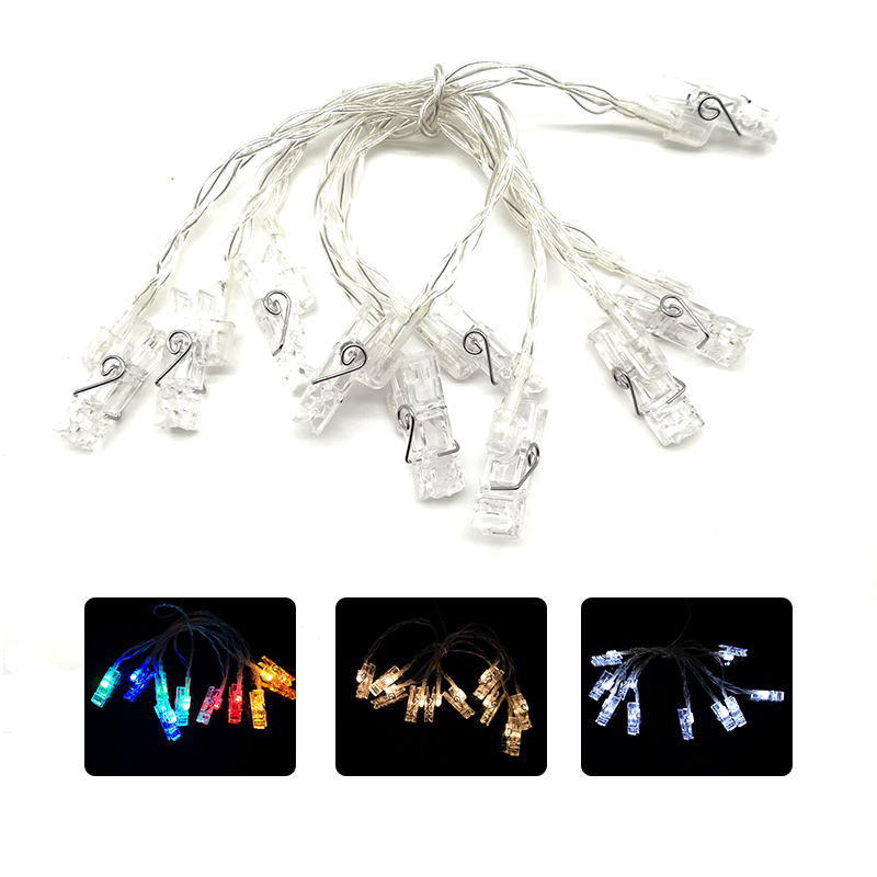 Led Photo Clip String Lights Indoor Fairy Lights Seasonal Lighting Outdoor String Lights For Hanging Photos Cards IY310203