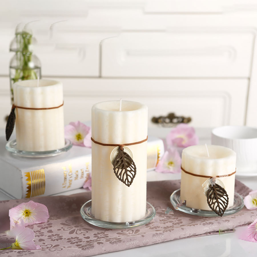 Multi Colored Natural Soy Candles Wedding Decoration Big White ...