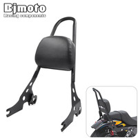 Bjmoto Motocross Motorcycle Passenger Rear Seat Side Arm Pad Backrest Sissy Bar Cushion For Harley Davidson
