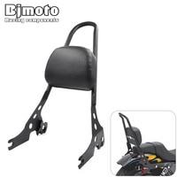 Bjmoto Motocross Motorcycle Passenger Rear Seat Side Arm Pad Backrest Sissy Bar Cushion For Harley Davidson
