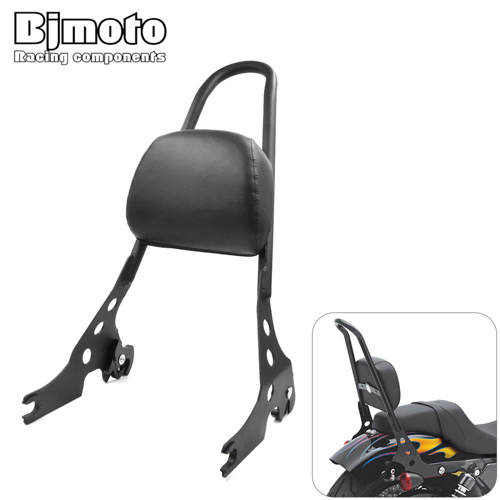 Motorcycle Accessories & Parts Covers & Ornamental Mouldings Considerate Bjmoto Motocross Motorcycle Passenger Rear Seat Side Arm Pad Backrest Sissy Bar Cushion For Harley Davidson Sportster Xl883 1200