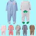 New Baby Clothing Foreign Trade The Original Single Spring Cotton Bag Feet Long Sleeve Jumpsuit Climb Clothes Striped Unisex