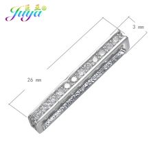 Handmade Beaded Jewelry Components Beadwork Jewelry Spacer Bars Accessories Fit Natural Stone Pearl Bracelet Necklace DIY Making cheap Juya micro pave Spacer connector 0 3cm 0 6cm Spacer Bars Decorative Connectors 1 7g 2 6cm Jewelry Findings 0 25cm Metal