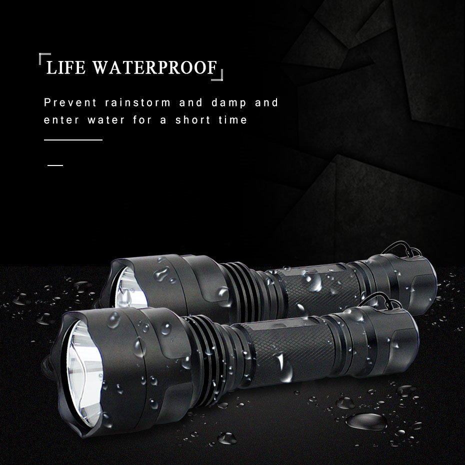 XML-T6 C8 Led Flashlight Torch Rechargeable Led Hand Lamp Waterproof Tactical Diving Flash Light for Hiking/Fishing/Camping/BikeXML-T6 C8 Led Flashlight Torch Rechargeable Led Hand Lamp Waterproof Tactical Diving Flash Light for Hiking/Fishing/Camping/Bike