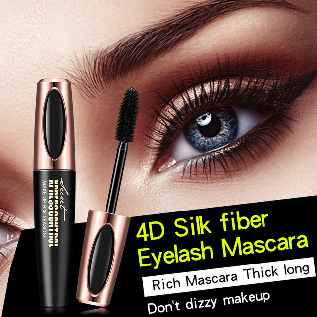 efdc75ca295 New 4D Silk Fiber Lash Mascara Waterproof Rimel 3d Mascara For Eyelash  Extension Black Thick Lengthening Eye Lashes Cosmetics