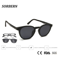 SORBERN Boy Girls Children Ultem Material Polarized Sunglasses Magnetic Clip On Round Optical Frames Kids Myopia Glasses Outdoor