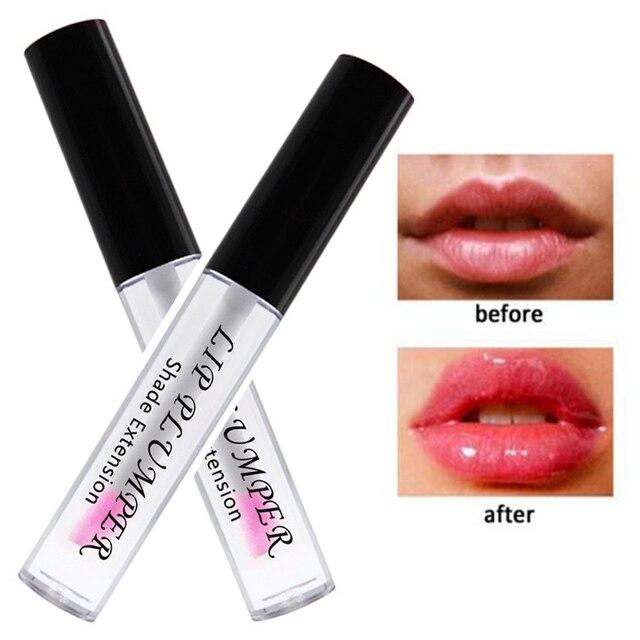 Marca Plump labios hidratante 3D transparente brillo de labios maquillaje resistente al agua cambio de temperatura Color claro brillo de labios completo