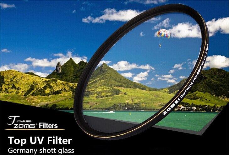 Livraison gratuite Top Zomei ultra-mince 82mm filtre UV allemagne polariseur lentille 18 couches revêtement sol d'huile + propre pour Canon Sony caméra