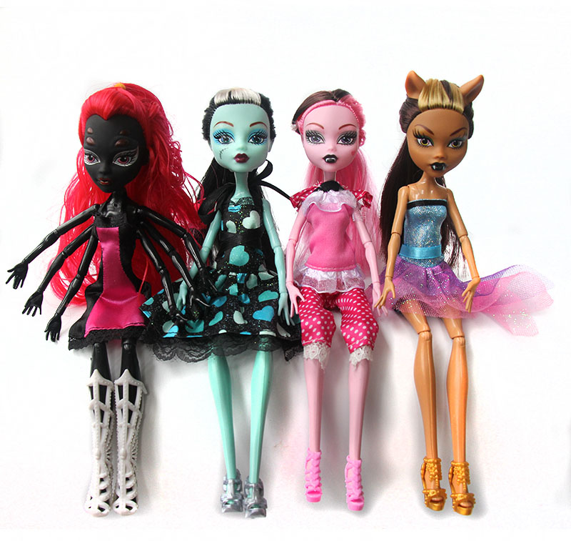 New Fashion Dolls Monster Draculaura Clawdeen Wolf Frankie Stein Moveable Joint Body DIY 1/6 Girls PVC Classic Toys Gifts